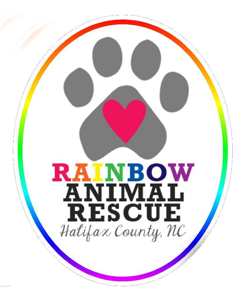 Rainbow animal rescue sticker